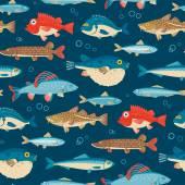 Fényképek Színes halak, vektor zökkenőmentes minta