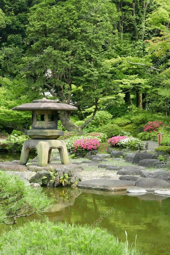 Stone Zen Garden Vertical japanese outdoor stone lantern in the zen garden stock vertical japanese outdoor stone lantern in the zen garden stock photo workwithnaturefo