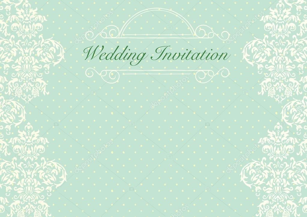 Mint Green wedding invitation background Stock Vector cougarsan