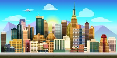 Game background 2d game application. Vector design. Tileable horizontally. Size 1024x512. Ready for parallax effect clip art vector