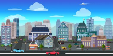 city game background 2d . Vector design.