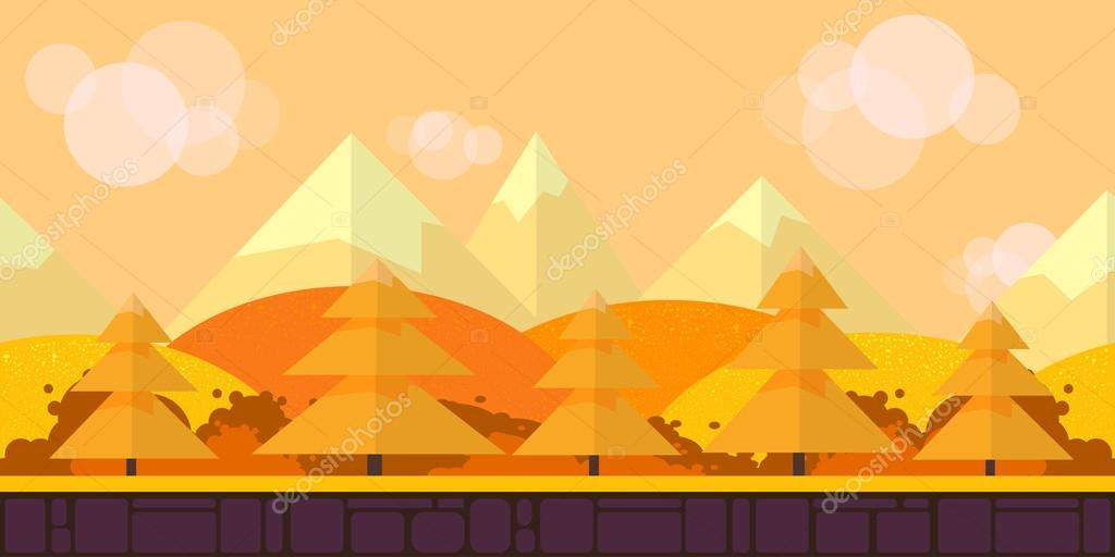 Game Seamless background flat Style 2d  application. Vector Illustration
