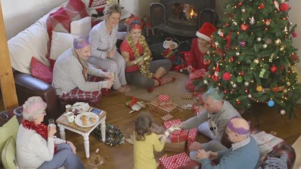 Rodinný vánoční ráno