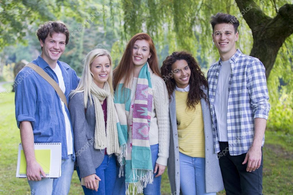 Happy Teenage Students