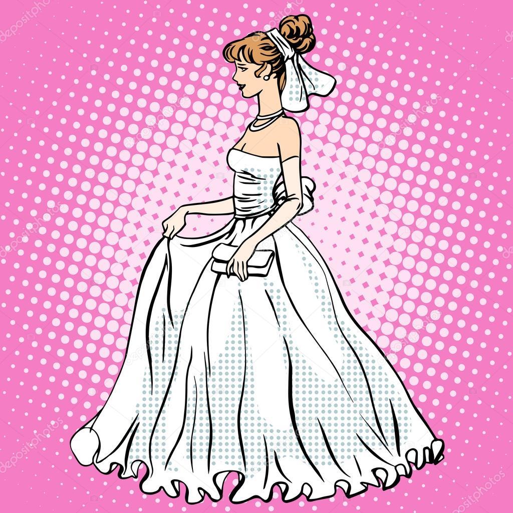 novia vestido de novia — Archivo Imágenes Vectoriales © rogistok ...