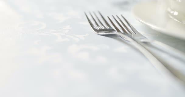 Zdobený stůl pro luxusní, elegantní večeře, Večeře Romantické pozadí