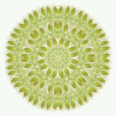 Vector mandala. Abstract vector floral ornamental border. Lace p