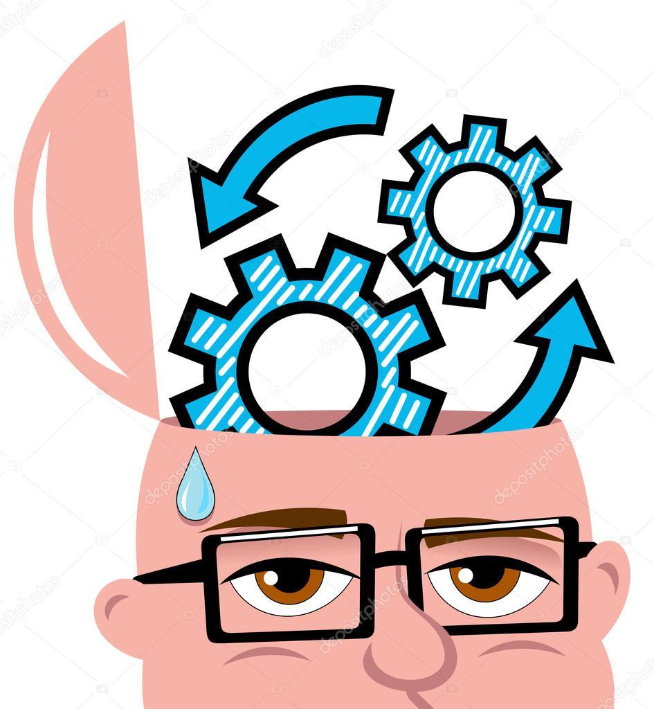 Open Minded Mann denken oder Argumentation neue Idee oder Lösung ...