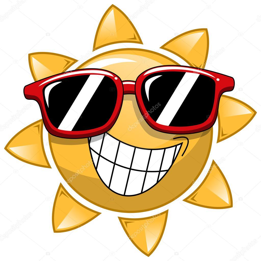 4cdbf4f6be4 Gafas de sol de dibujos animados frescos — Vector de stock