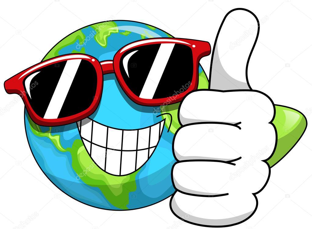coola tecknad jorden solglas u00f6gon stock vektor clipart of earth globe clipart of earth's