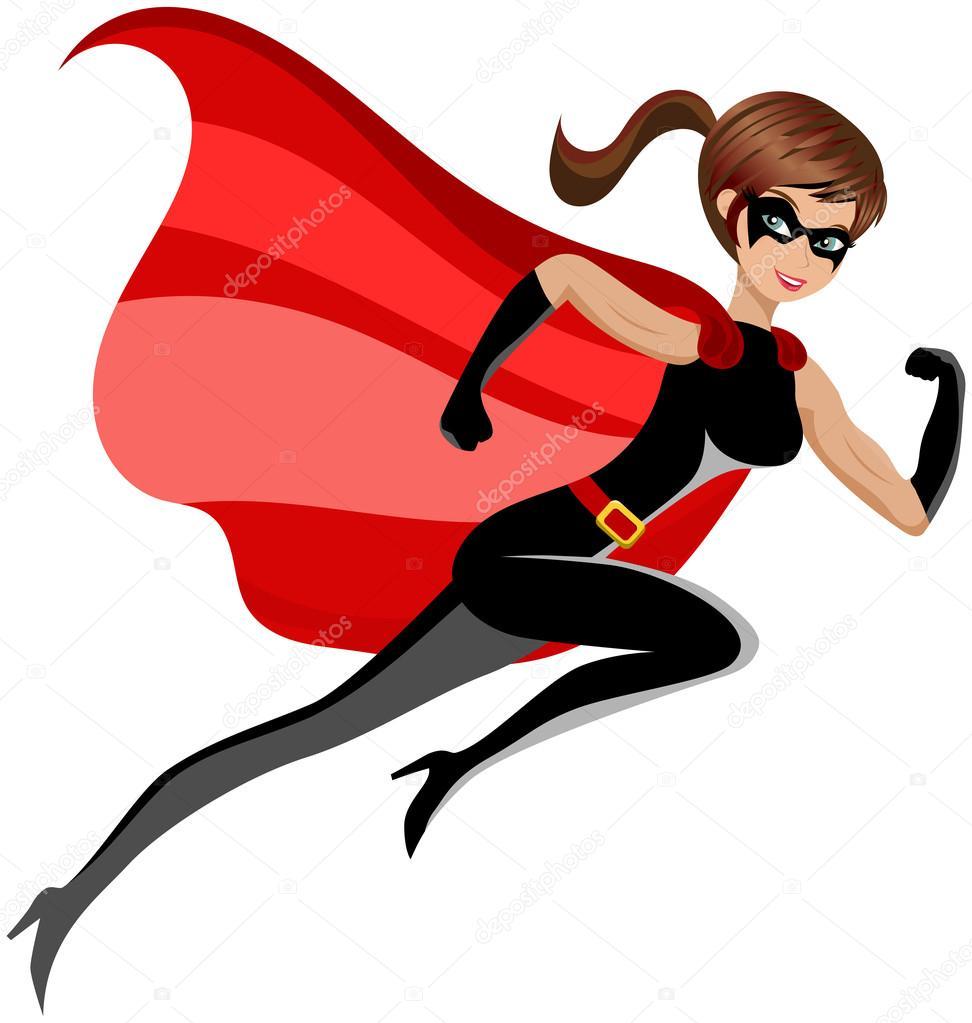 Femme de super h ros qui court vol isol image vectorielle canbedone 81434908 - Liste de super heros femme ...