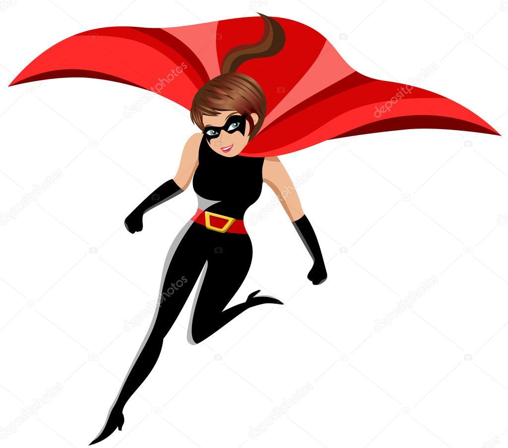 Super h ros de femme en action isol e image vectorielle canbedone 84437024 - Liste de super heros femme ...
