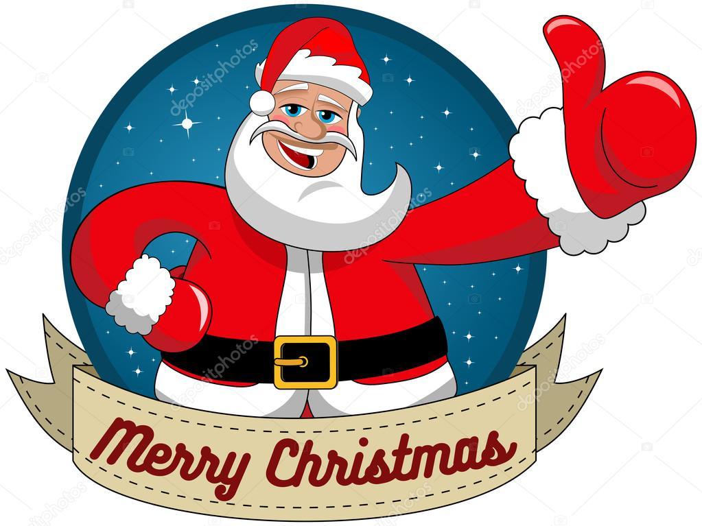 Weihnachtsmann, ich wünsche Frohe Weihnachten in Runde Rahmen ...