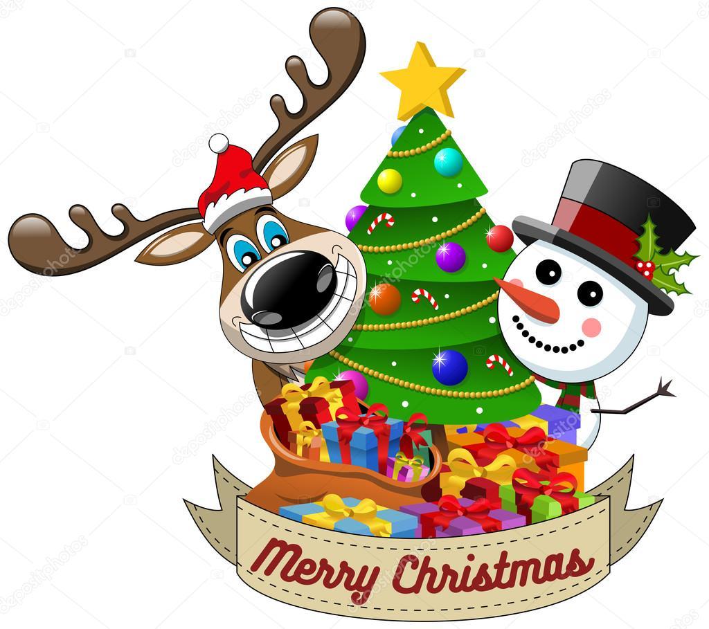 Dibujos Dibujo Feliz Navidad Dibujos Animados Graciosos