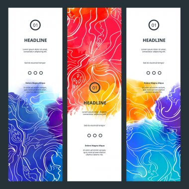 Banners with Colorful Splashes