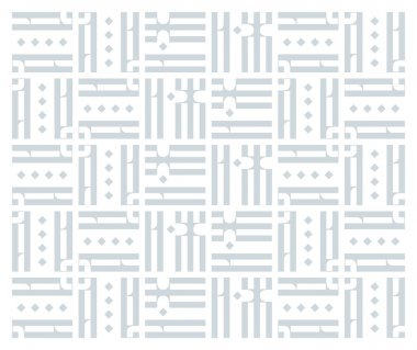 Old Slavonic Letters in Abstract Pattern