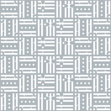 Vector Seamless Pattern with Old Slavonic Letters