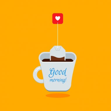 Good Morning Tea Illustration