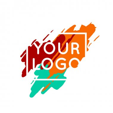 Abstract colorful logo template concept. Vector paint splash background clip art vector
