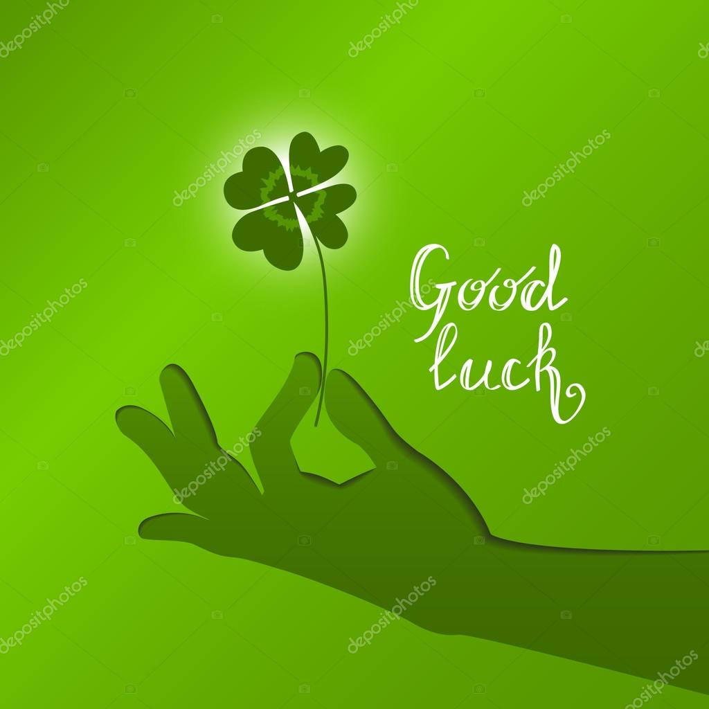 good luck vector card