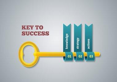 Key to success illustration.