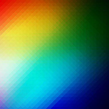 Colourful Triangular Rainbow Background