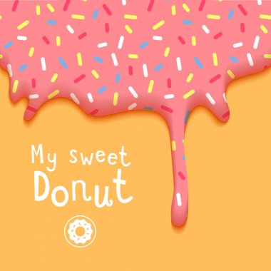 My Sweet Donut Vector Illustration