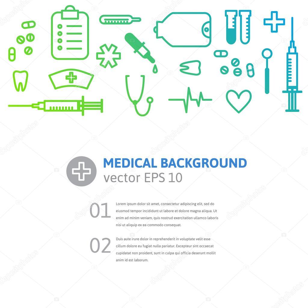 medical instruments background