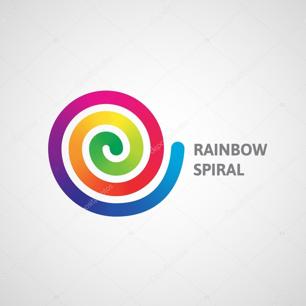rainbow spiral logo