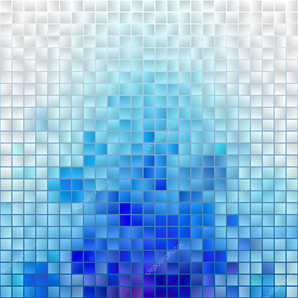 Vector Blue Mosaic Background