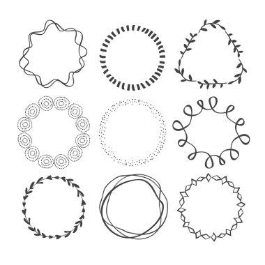 Set of Circle Scribble Frames.