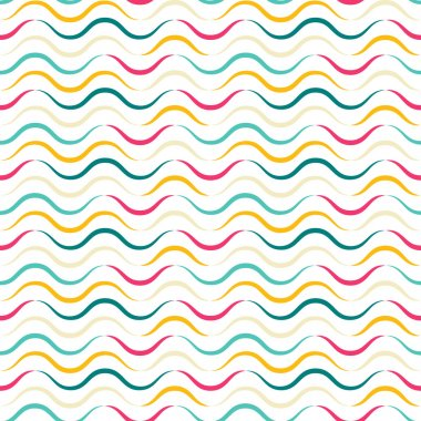 Colorful Seamless Pattern with Waves.