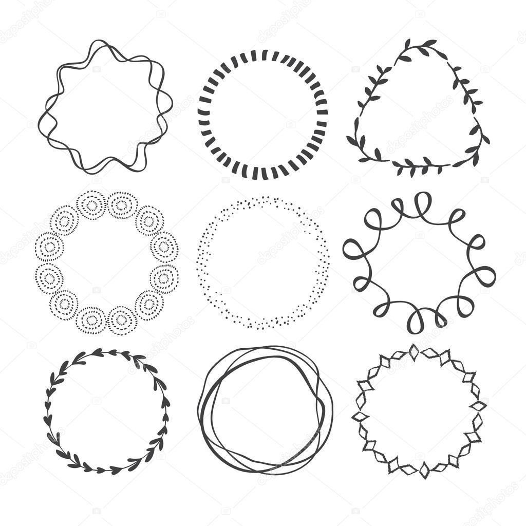 Set of Circle Scribble Frames. — Stock Vector © bridddy #82836562