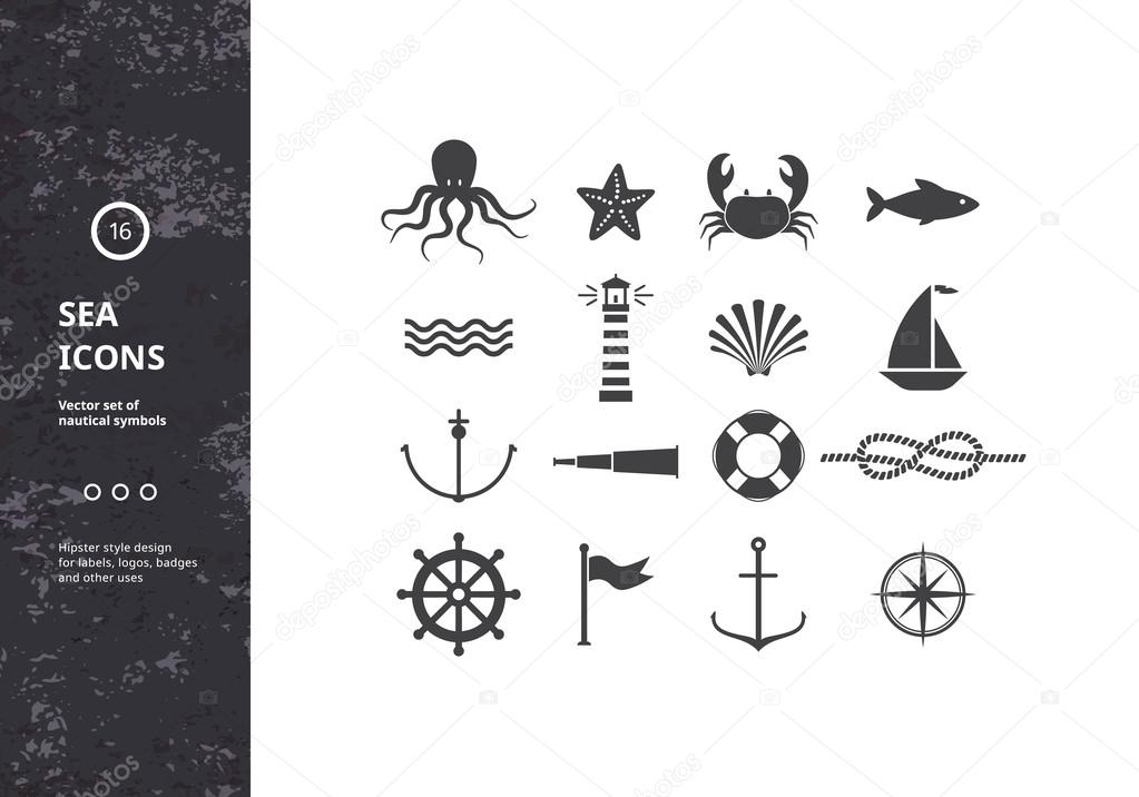 Vector Set of Nautical Icons.