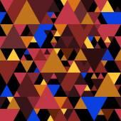 Vektorové Puzzle bezešvé vzor barevné trojúhelníky