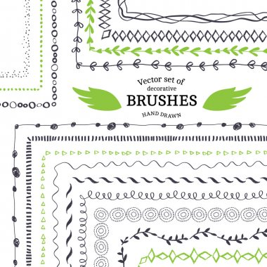 Vector Decorative Scribble Paintbrushes