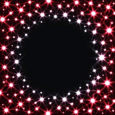Red Stars on Dark Background