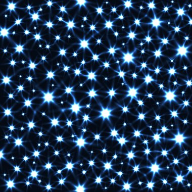Sparkling Stars in Dark Vector Background.