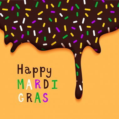 Happy Mardi Gras Holiday Poster