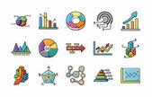 Obchodní grafické ikony set, eps10