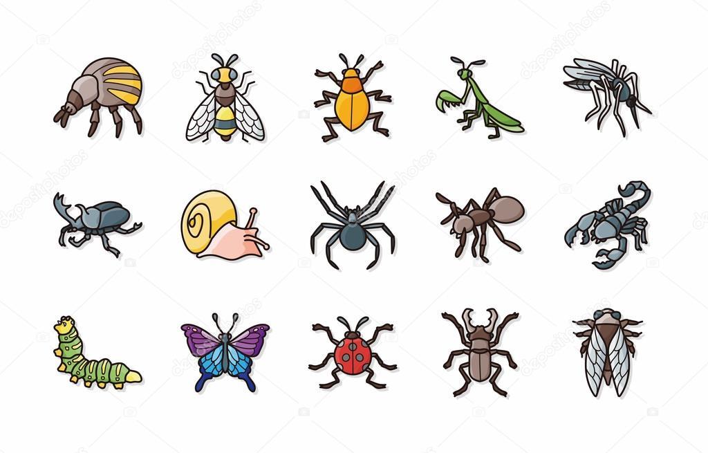 Insectos y bichos los iconos conjunto, eps10 — Fotos de Stock ...