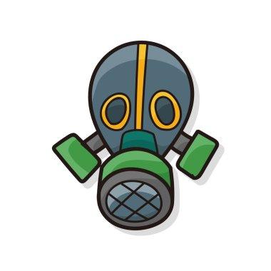 Gas masks color doodle