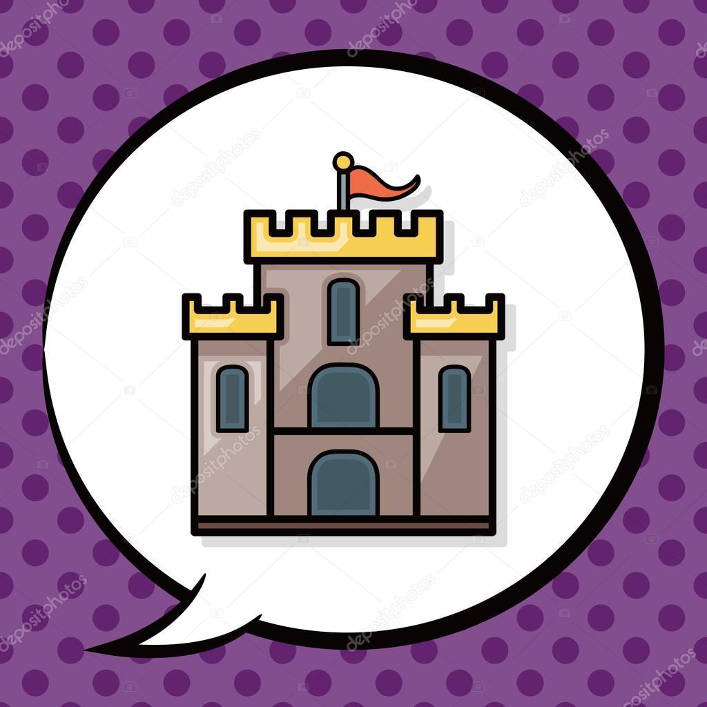 Schloss doodle, Sprechblase — Stockvektor © wenchiawang #90141240