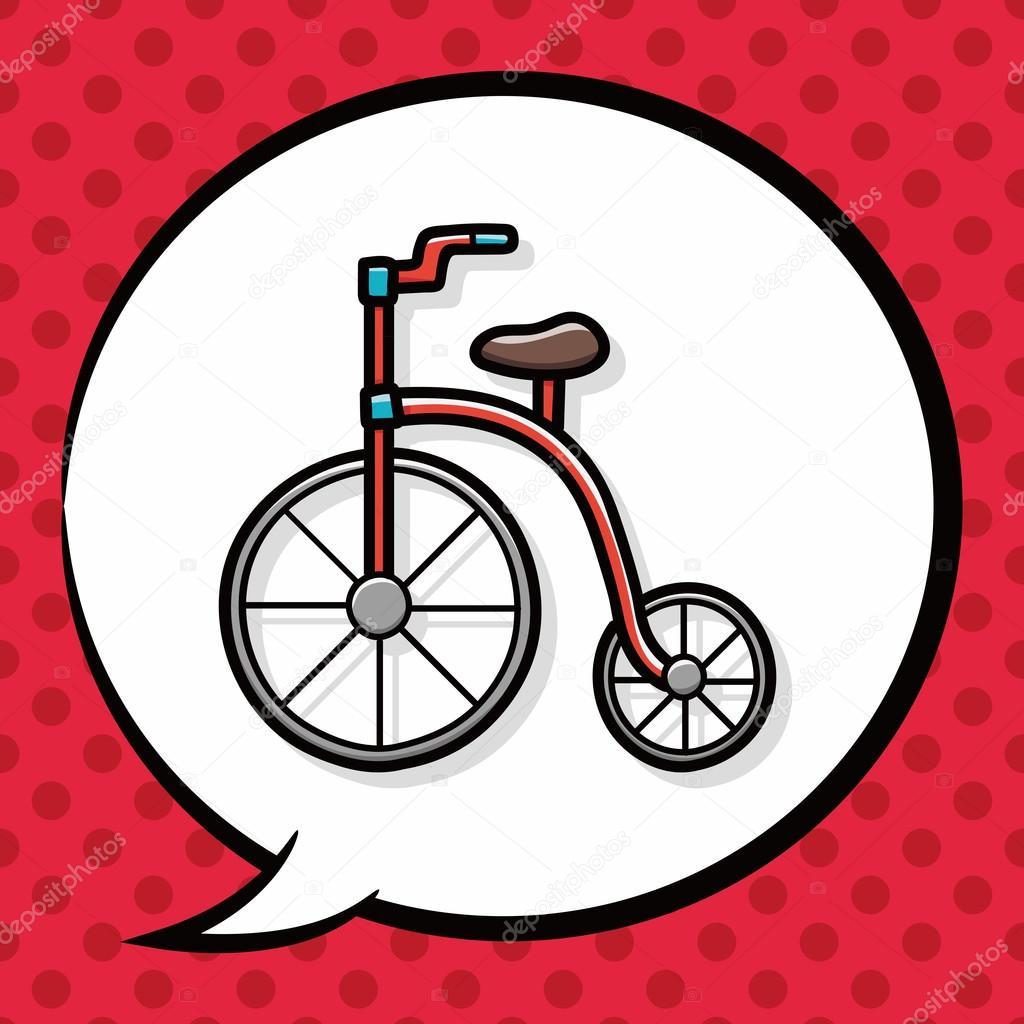 Bisiklet Doodle Konuşma Balonu Stok Vektör Wenchiawang 90141536