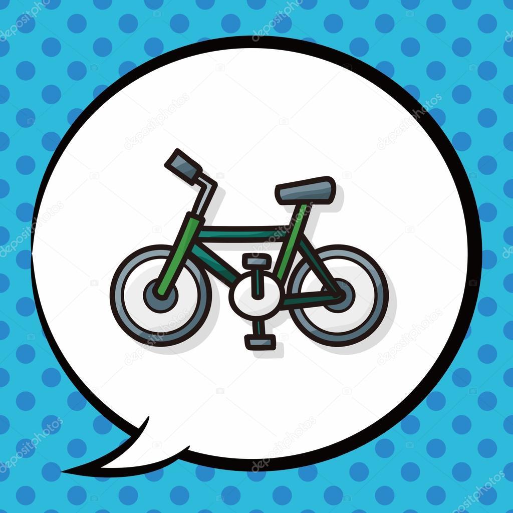 Bisiklet Doodle Konuşma Balonu Stok Vektör Wenchiawang 90143176
