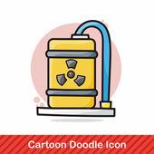Jaderná energie doodle vektorové ilustrace
