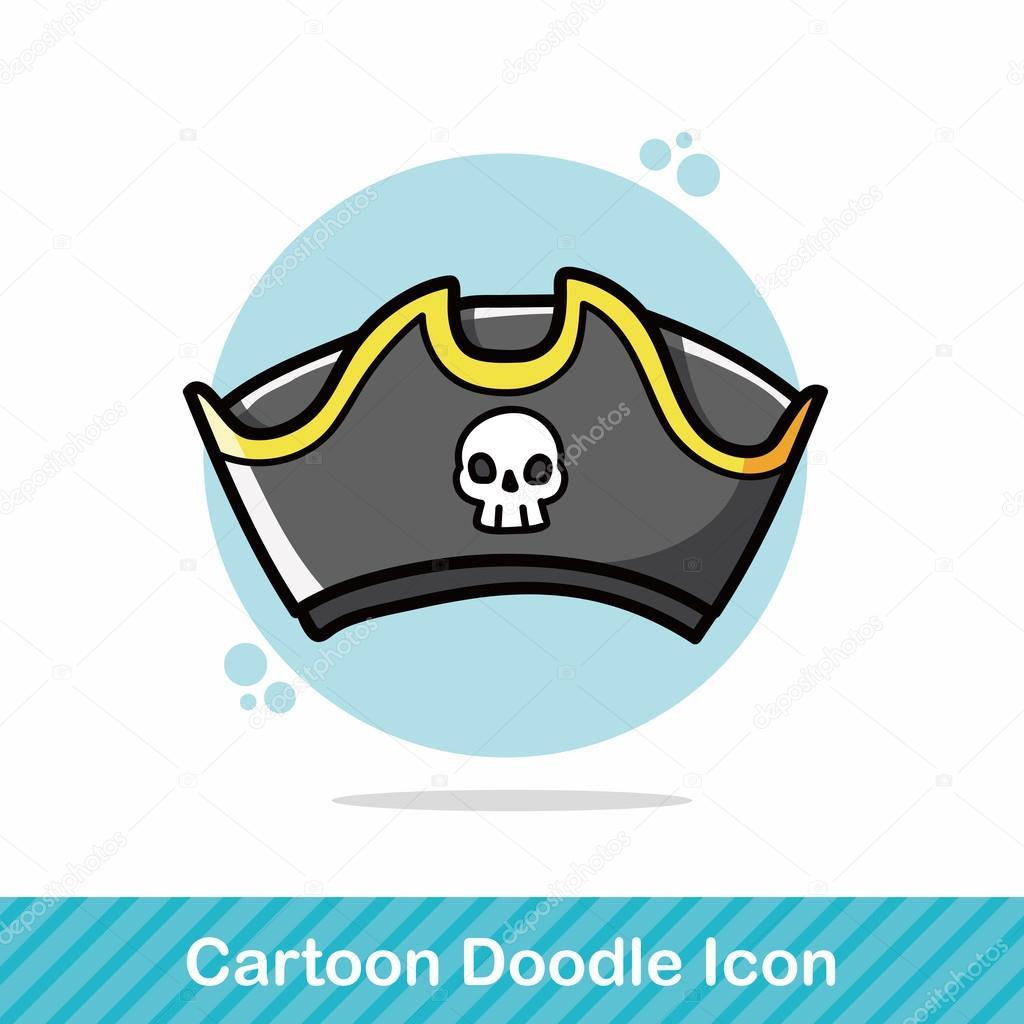 Korsan şapkası Doodle Vektör çizim Stok Vektör Wenchiawang 91759484