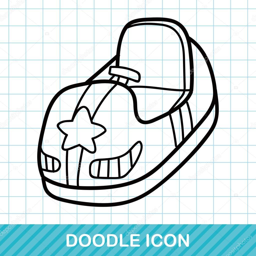 çarpışan Araba Doodle Vektör çizim Stok Vektör Wenchiawang 94478792