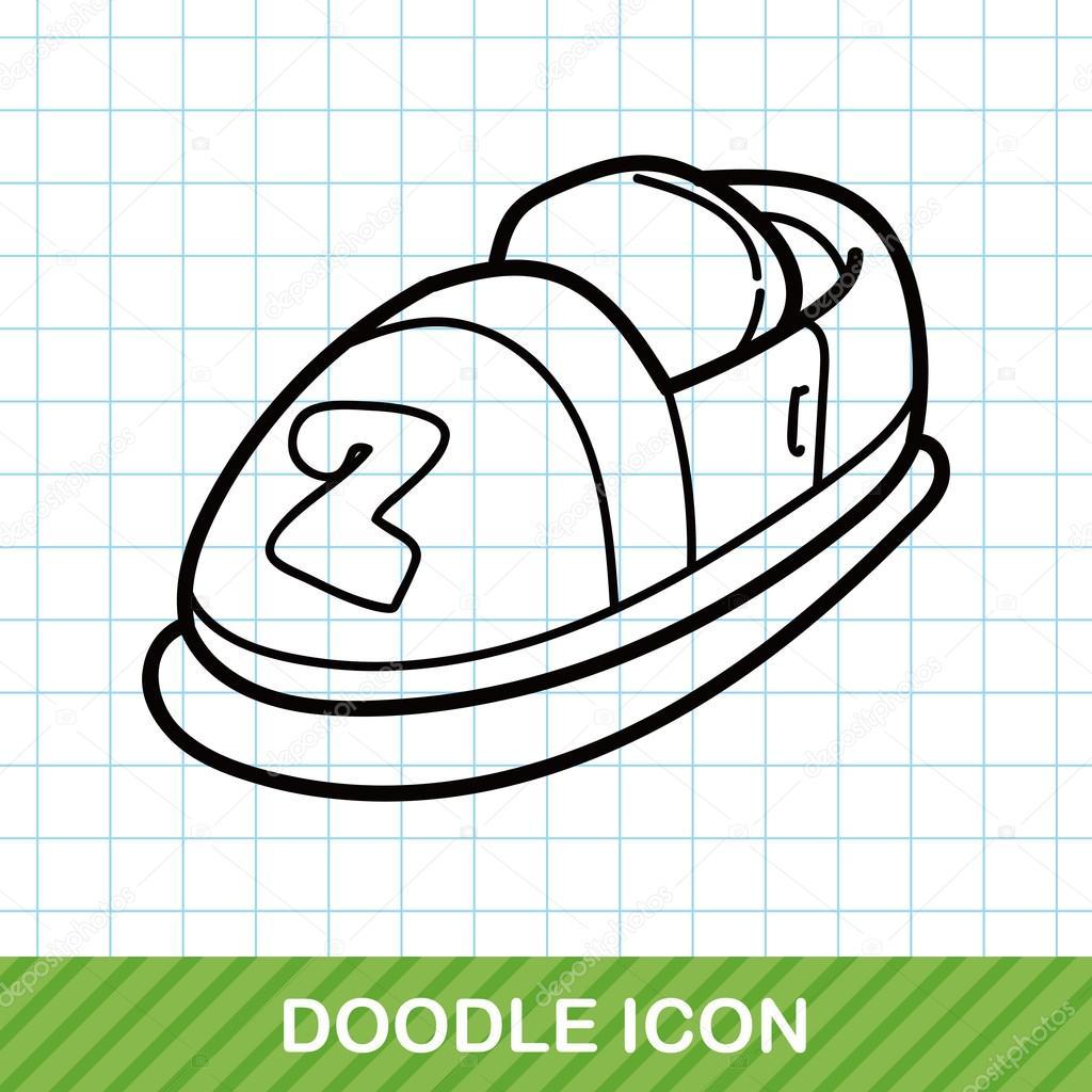 çarpışan Araba Doodle Vektör çizim Stok Vektör Wenchiawang 94478868