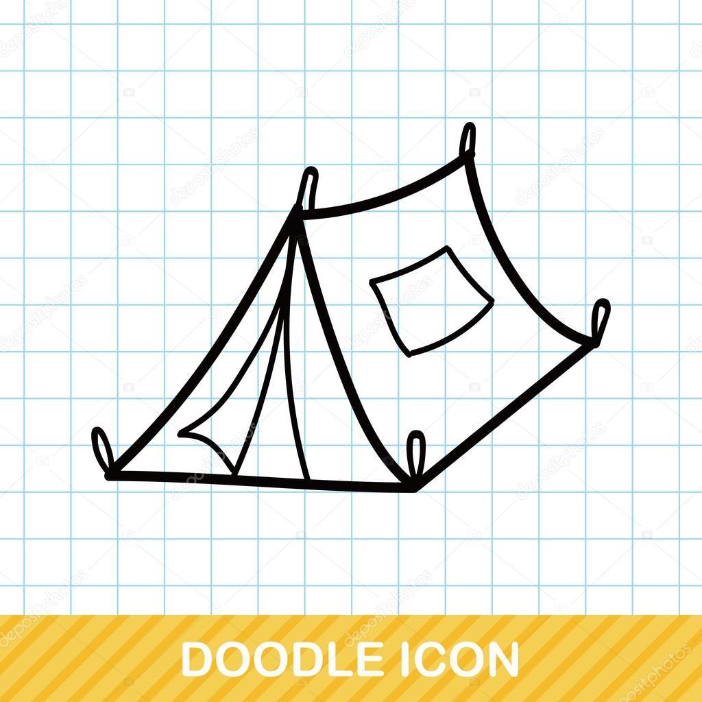 Tent doodle vector illustration u2014 Stock Vector #94479394  sc 1 st  Depositphotos & Tent doodle vector illustration u2014 Stock Vector © wenchiawang #94479394